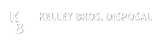 Kelley Bros Disposal Logo Mark White